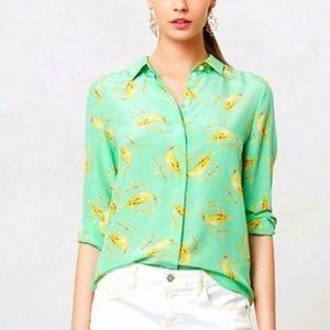 ANTHRO | LEIFSDOTTIR | Seaside Bird Silk Blouse